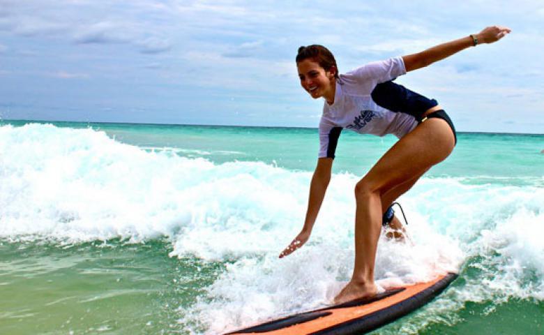 Персональный урок в школе серфинга в Доминикане