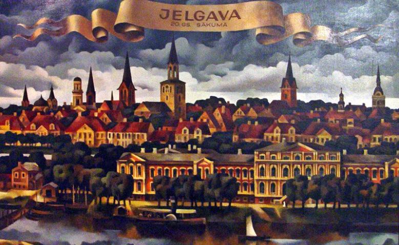 Елгава — Город восставший из руин