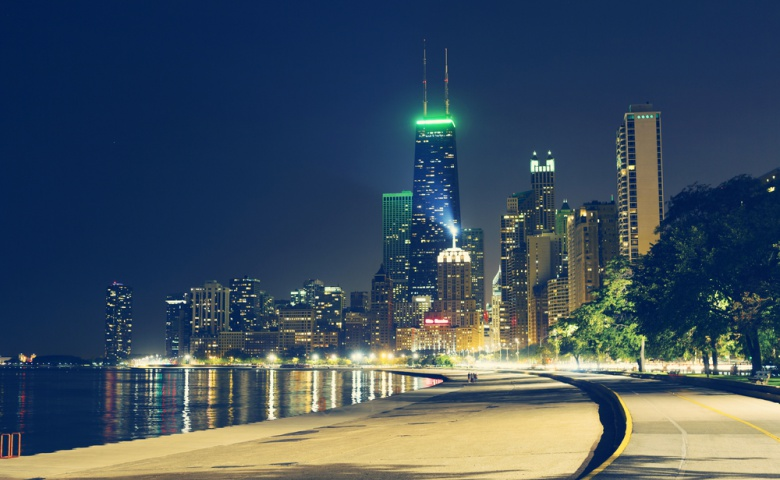Прогулка по вечернему Чикаго