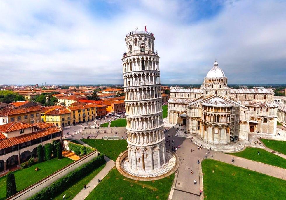 фото италия пизанская башня