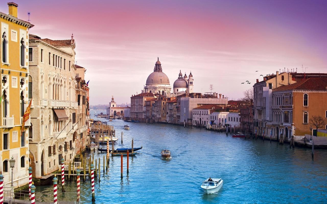 Обои лодка, канал, венеция. Города foto 17